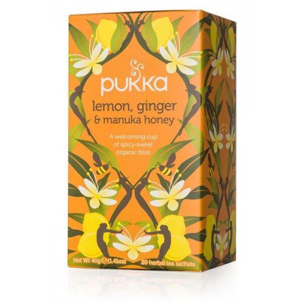 Pukka BIO tēja - citrons ar ingveru un manuka medu, 20pac.