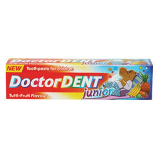 Zobu pasta bērniem Doctor Dent junior ar tropisko augļu garšu 50 ml
