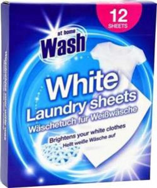 At Home Wash White x12 balinošās salvetes