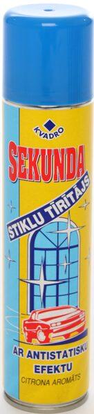 SEKUNDA Stiklu tīrītājs ar antistatisku efektu un citrona aromātu 300ml