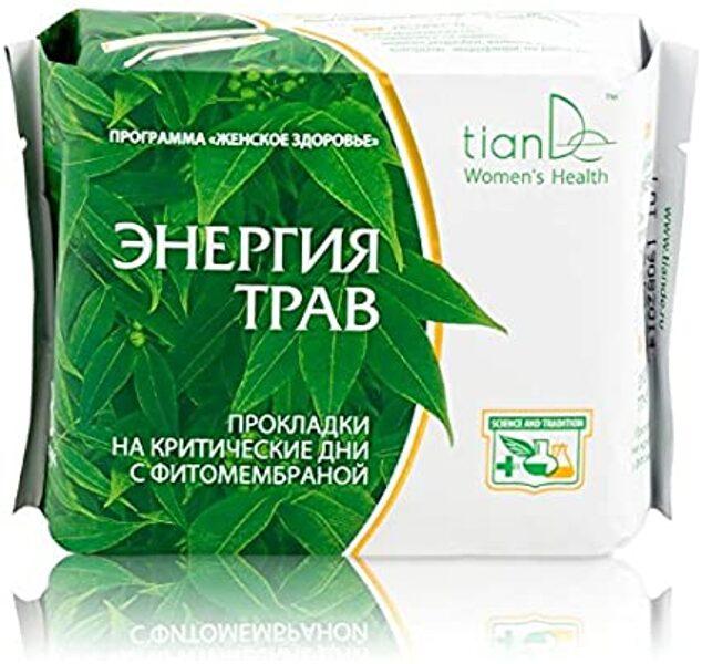 TianDe higiēniskās paketes ar augu izcelsmes sastāvdaļām menstruālā cikla un periodu sāpju mazināšanai - dienā 8 gab.
