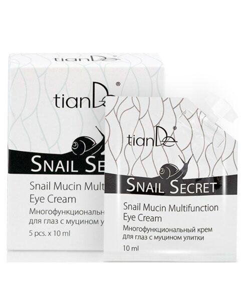 TianDe Snail Mucin daudzfunkcionāls acu krēms 5x 10ml