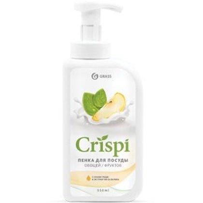 CRISPI - trauku mazgāšanas putas ar dozatoru - bumbieru sula un bazilika ekstrakts 550ml