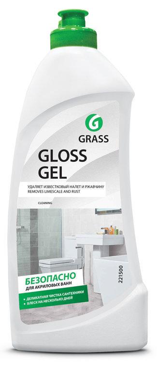GLOSS GEL - efektīvs tīrīšanas līdzeklis vannām un duškabīnēm ar spīduma efektu - 500 ml