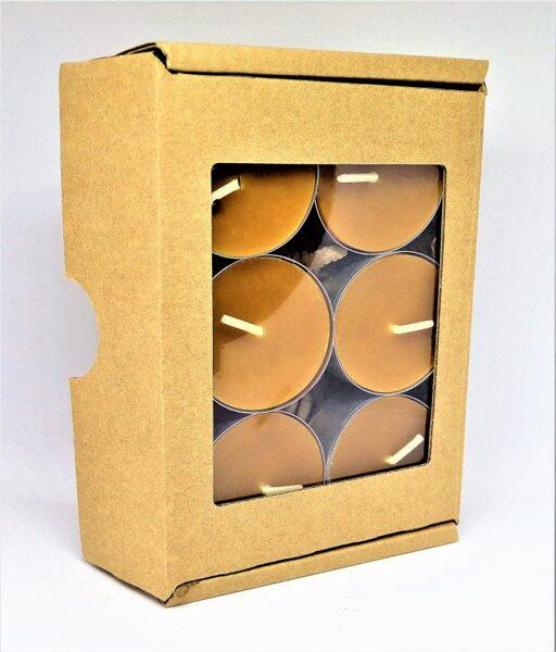 Bišu vaska tējas sveču komplekts 6gab.