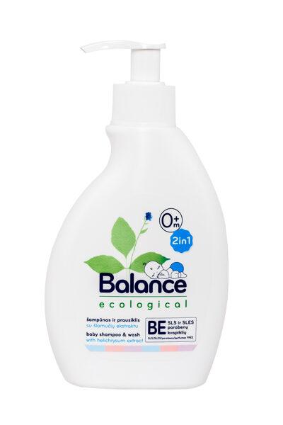 BALANCE ekoloģiskais bērnu šampūns ar dozatoru 250ml