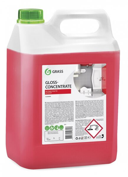 Gloss concentrate, skābes tīrīšanas līdzeklis, 5,5kg