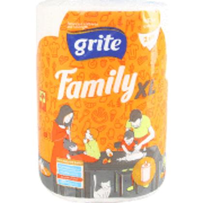 Grite Family XL papīra dvielis 250 loksnes baltas
