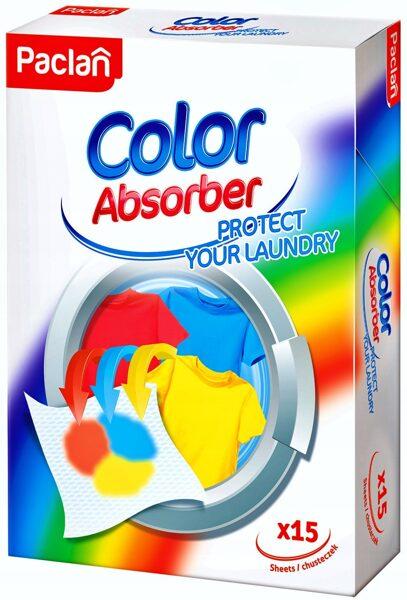 Krāsu absorbējošas salvetes krāsainai veļai 15gab