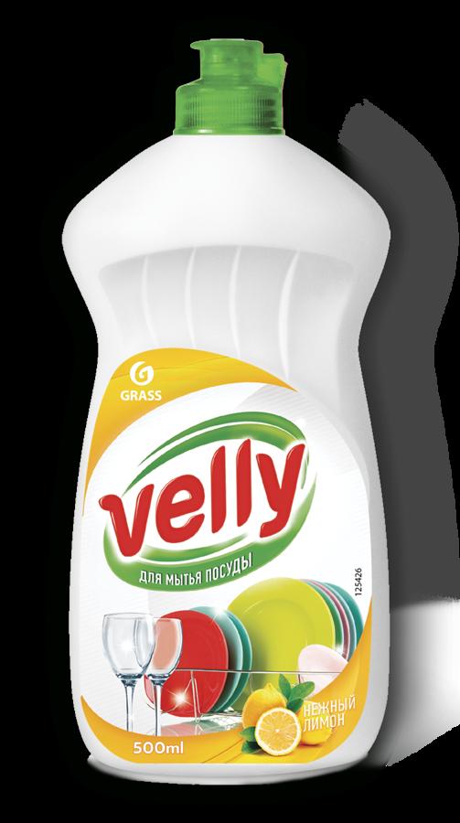 VELLY Lemon - universāls trauku mazgāšanas līdzeklis ar citrona aromātu  500 ml